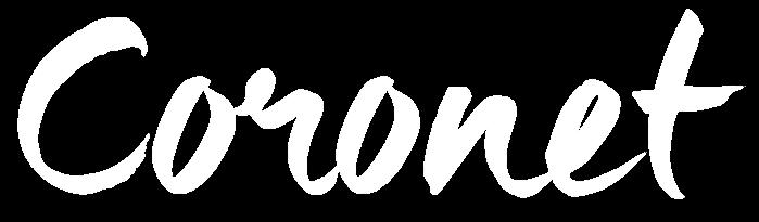 Coronet logo white